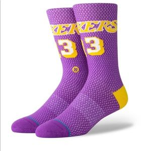 Stance Lakers Socks 13 men's Large new